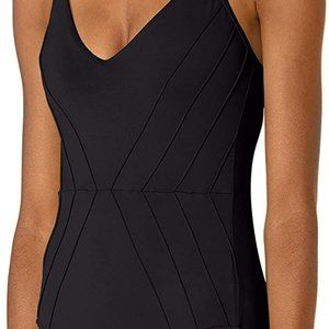 Seafolly  Pintuck Black One Piece Swimsuit